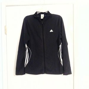 Adidas Black and White Sports Jacket